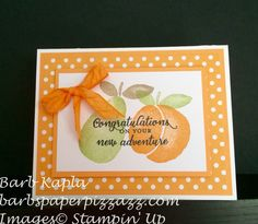A Card using the new stamp set from Stampin' Up. Details at www. barbspaperpizzazz.blogspot.com