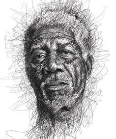 Geniales retratos a lápiz de celebrities y arte con recursos originales