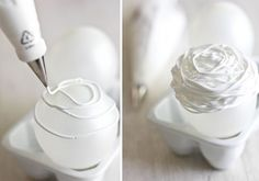 Like Porcelain, Royal Icing Nests #Food-Drink