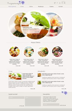 Website layout  - #fooddesign #cleandesign #websitedesign #circles