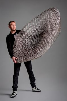 The structures of spiderwebs were used to inform the design of this 3D-printed sofa.  #3D. #design