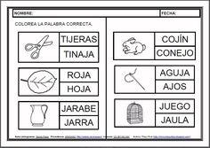 MATERIALES - Fichas de lectoescritura - J. Fichas para el aprendizaje de la lectoescritura en letra mayúscula. http://arasaac.org/materiales.php?id_material=983