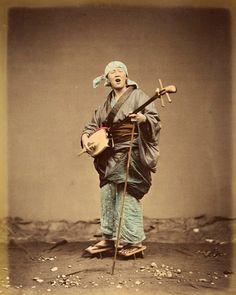 Shinichi Suzuki - Street Minstrel, Gose, 1870's.