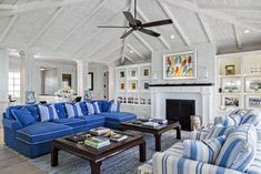 Florida Beach Cottage - beach style - living room - other metro - Village…