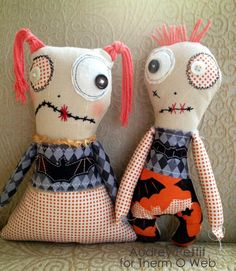 His and Hers Zombie Dolls ~ free pattern + tutorial