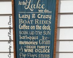 Welcome To The Lake Signs Decor Impressive Welcome To The Lake Custom Sign  To The Lakes And Signs 2018