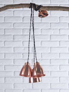 Trinske Triple Pendant - Copper NEW - Lighting Copper Pendant Lights, Copper Lighting, Luxury Lighting, Modern Lighting, Copper Ceiling, Utility Room Inspiration, Industrial Style Lighting, Antique Chandelier, Light Fittings