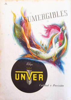 Waterproof Dream. 1952. El Gráfico magazine. Unver Watches.