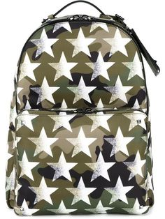 6d6d07ec47 VALENTINO star print camouflage backpack.  valentino  bags  leather  nylon   backpacks