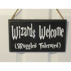 """6""""x10"""" Vinyl Decal Door Sign Harry Potter Inspired J.K. Rowling... ($15) ❤ liked on Polyvore featuring home, home decor, wall art, welcome sign, vinyl signs, welcome door signs, vinyl home decor and door decals"""