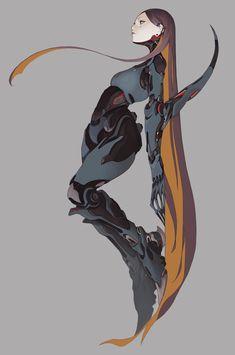 Character Drawing, Character Concept, Concept Art, Cyberpunk Girl, Cyberpunk Character, Cyberpunk Aesthetic, Design Industrial, Metal Robot, Artist Materials