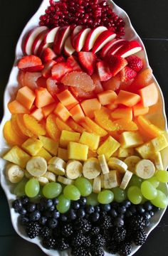 Fresh fruits after the swim