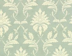 Printemps  Damask Pond Aqua by 3 Sisters from Moda by JAQSFabrics