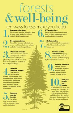 10 ways #trees benefit our communities and improve our quality of life. | Via Wisconsin Department of Natural Resources, repinned via @Ann Brincks Department of Natural Resources