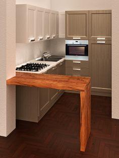 Cucina con penisola in legno http://www.silfarredamenti.it/