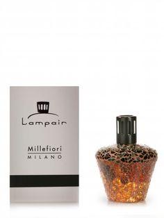 Lampair crackle geurbrander in bruin. Ook in zwart en wit verkrijgbaar.