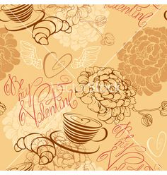 Coffee love seamless 380 vector - by lian2011 on VectorStock®