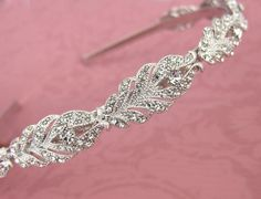 Vintage Style Crystal Headband Gold Silver by LottieDaDesigns
