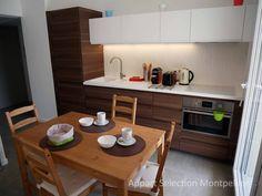 La cuisine de l'appartement Jardin d'Aiguelongue à Montpellier géré par Appart Selection Monptellier