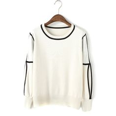 #jollychic Simple Slim Puff Sleeve Pullover Sweaters For Women