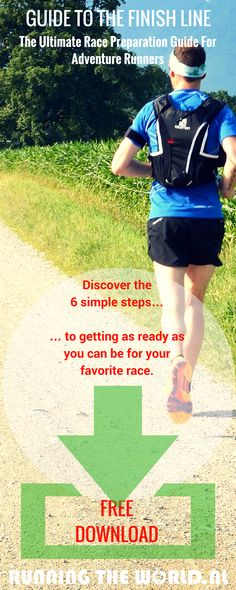 Discover the 6 simple steps to getting as ready as you can be for your favorite race, without stressing about what skills, training & gear you need to enjoy & complete the challenge. Including numerous examples of amazing races, 6 race checklists and great preparation tips from the pro's! [FREE DOWNLOAD]: http://www.runningyourlife.nl/race-preparation-guide/]