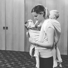 When the 3 month old fell asleep at our babywearing meeting, my 3 year old decided he wanted up too. The amount of laughter and sweat it took to put that 35+ pounds of wiggling toddler on my back... Only to have the baby wake up second later... Was priceless! Thanks @ashta1385 for capturing moment :) #wovenwrap #babywearing #tandem #toddler #pavo #keshi #etini