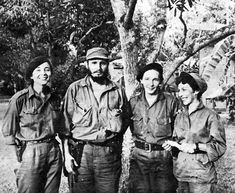 "Not your average guerrilla fighters: Vilma Espin, Fidel Castro, Raul Castro, and Celia Sanchez. They are said to be Fidel's ""Big Four"" of the Cuban Revolution. (Cuban Insider) """