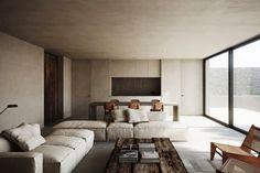 scandinavian retreat.: The S house living room cozy+concrete