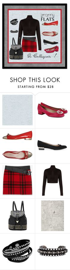 """""""Granny Flats,Go Collegiate !"""" by mountainalive ❤ liked on Polyvore featuring York Wallcoverings, Gucci, Nadia Grilli, Tod's, Yves Saint Laurent, BCBGMAXAZRIA, DANNIJO, women's clothing, women's fashion and women"""