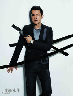Actor Hu Ge donning looks from the Emporio Armani Fall Winter 2016-17 collection on the cover and inside spread of Esquire China, July issue.