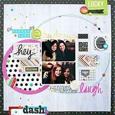 Layout based on a March PageMaps sketch. Created by design team member Heather Leopard using our new DIY Boutique collection Scrapbook Sketches, Scrapbook Page Layouts, Scrapbook Albums, Scrapbooking Ideas, Layout Inspiration, Art Journal Inspiration, Baby Memories, Simple Stories, Paper Hearts