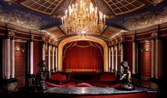 Beautiful Opulent Home #Theater. Interior Architecture. Live Beautifully!  Classical details.
