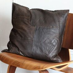. . . so wanting to make some scrunchy aged leather pillows