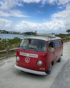 I saw this 1968 VW Westfalia Camper Bus  on Sunday at the Intracoastal on Jupiter Island, FL http://www.wfpblogs.com/category/toms-blog/