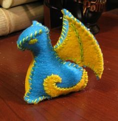 Lady Katsumi's Stuffed Dragon Tutorial with downloadable patterns for 2 sizes of dragon