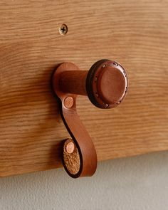 Leather and wood hanger