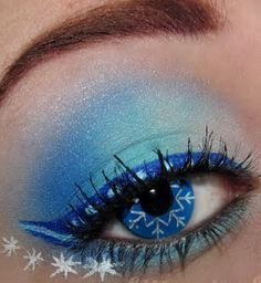 Let It Snow Makeup! This is so pretty!