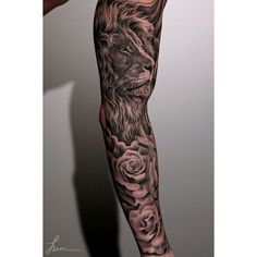 80+ Awesome Examples of Full Sleeve Tattoo Ideas ❤ liked on Polyvore featuring accessories