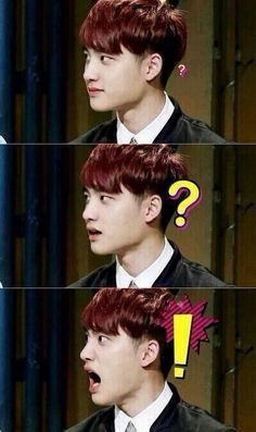Kyungsoo's cute surprised expression xD
