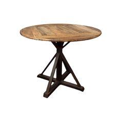 Original mesa con sobre esférico en madera sin tratar y patas de hierro lacado negro. Dará un mayor peso a la decoración de tu hogar, marcando de forma notable su estilo. #rebajas #decorebajas #mesa #original #muebles #decoracion #hogar #casa #estilo