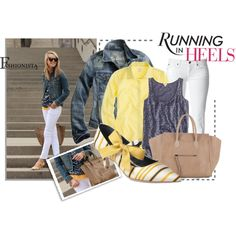 running in heels, created by stacy-gustin on Polyvore - would prob change out the shoes, but other than that, love this!
