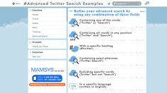 How To : Advanced search on Twitter?  With hundreds of millions of Tweets a day, Twitter offers a massive amount of exciting content. This also means you may need some extra filtering to find something specific. Here enters Twitter's advanced search.  Advanced search offers filtering options that can help you find specific content.Twitter Advanced Search is a goldmine for marketers and small business owners.  In this post, we are super excited to share some top tips and tricks to help your…