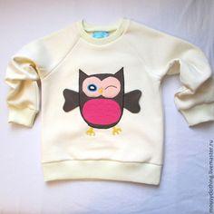 """Одежда для девочек, ручной работы. Ярмарка Мастеров - ручная работа. Купить Свитшот """"Сова"""". Handmade. Бежевый, свитер детский"""