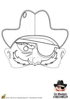 Pour Halloween, la tête de Borgne est à colorier