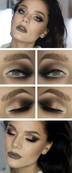 Lavish - dark with black, gold and silver with taupe lips
