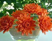 Orange Gum Paste flowers- crazy pretty!