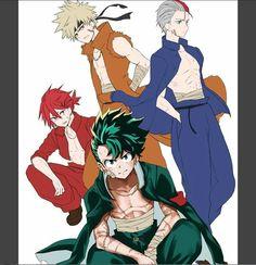 FanArt / Hiroki / Boku no hero academia / Midoriya / Todoroki / Bakugou / Kaminari