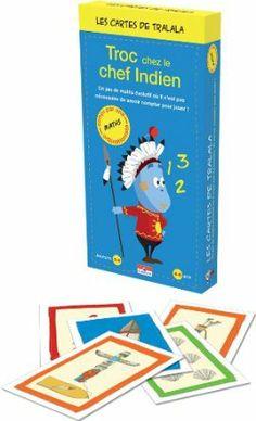Asmodee - TRA02 - Jeu enfants - Les Cartes Tralala - Troc chez le Chef Indien: Amazon.fr: Jeux et Jouets