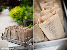 I LOVE THIS IDEA! How does one print on a bag though. bags as programs, perhaps filled with popcorn to enjoy at the ceremony for a fun twist. Or rose petals to throw when the couple leaves? Wedding Reception Food, Wedding Programs, Ceremony Programs, Wedding Cards, Wedding Ceremony, Wedding 2015, Diy Wedding, Rustic Wedding, Dream Wedding