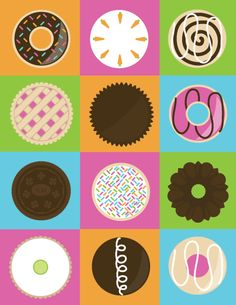 sweet circles icon set by student Lauren Forson